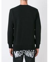 Love Moschino - Black Embossed Logo Sweatshirt for Men - Lyst