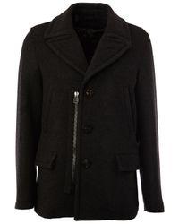 Lanvin | Gray - Zip Coat - Men - Polyamide/polyester/viscose/virgin Wool - 54 for Men | Lyst
