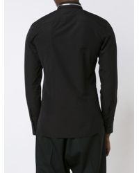 Givenchy - Black Zip Collar Shirt for Men - Lyst