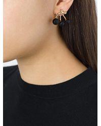 Eshvi - Metallic Resin Beaded Earrings - Lyst