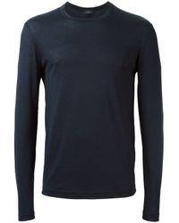 JOSEPH - Blue Classic Long Sleeve T-shirt for Men - Lyst