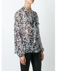 McQ - Gray Pony Print Shirt - Lyst