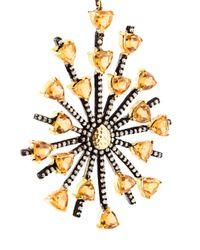 Carole Shashona - Black 'sun Sparkler' Diamond Earrings - Lyst