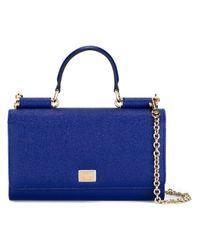 Dolce & Gabbana - Blue Mini 'von' Wallet Crossbody Bag - Lyst