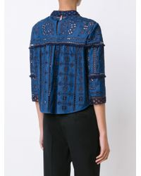 Sea - Blue 'Diam' Lace Top - Lyst