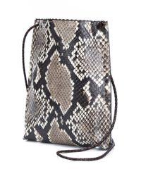 B May - Black Cellphone Snakeskin Cross-Body Bag - Lyst