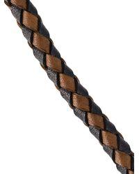 Eleventy - Black Braided Bracelet for Men - Lyst