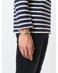 Eleventy - Metallic Cuff Bracelet for Men - Lyst