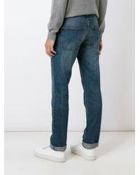 AMI - Blue Straight Leg Jeans for Men - Lyst