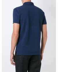 Polo Ralph Lauren - Blue Embroidered Logo Polo Shirt for Men - Lyst
