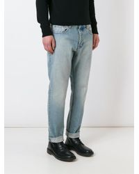 AMI | Blue Straight Leg Jeans for Men | Lyst