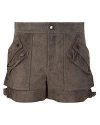 Helmut Lang | Brown Cargo Pocket Shorts | Lyst