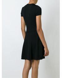 RED Valentino - Black Flower Short Sweater Dress - Lyst