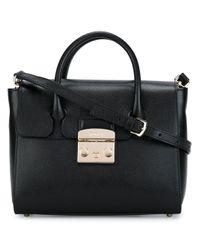 Furla | Black - 'metropolis' Satchel - Women - Leather - One Size | Lyst