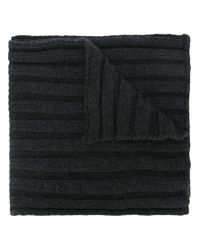 Moncler | Gray Ribbed Scarf | Lyst