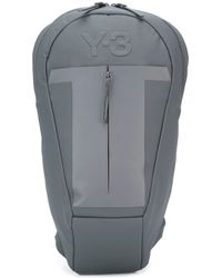 Y-3 | Gray - Embossed Logo Backpack - Men - Polyester - One Size for Men | Lyst