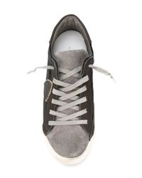 Philippe Model - Black Logo Patch Sneakers - Lyst