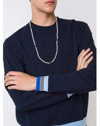 Roman Paul - White Long Necklace for Men - Lyst
