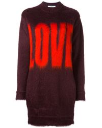 Givenchy | Brown Love Printed Jumper | Lyst