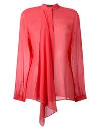 Etro | Multicolor - Draped Blouse - Women - Silk - 42 | Lyst