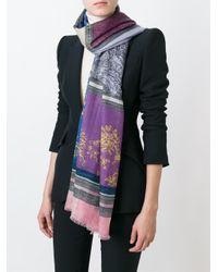 Etro - Multicolor Cashmere Printed Scarf - Lyst