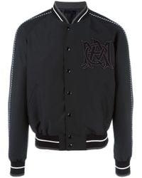 Alexander McQueen | Black Insignia Bomber Jacket for Men | Lyst