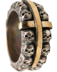 Tobias Wistisen - Metallic Skull Ring for Men - Lyst