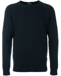 Zanone | Blue Crew Neck Sweater for Men | Lyst