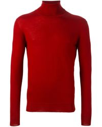 Etro | Red Cashmere Slim Fit Jumper for Men | Lyst