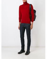Etro   Red Cashmere Slim Fit Jumper for Men   Lyst
