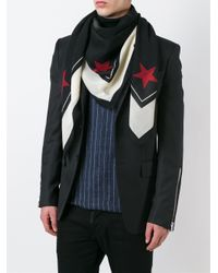 Givenchy | Black Rottweiler And Stars Scarf for Men | Lyst