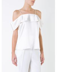 Rebecca Vallance - White Off-the-shoulder Cami Top - Lyst