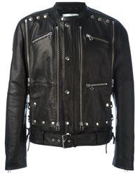 Faith Connexion | Black Studded Leather Jacket for Men | Lyst