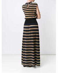 Sonia Rykiel - Black Sequined Collar Maxi Dress - Lyst