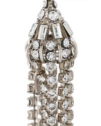 Roberto Cavalli | Metallic Swarovski Crystal Drop Earrings | Lyst