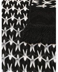 Missoni - Black Knitted Scarf - Lyst