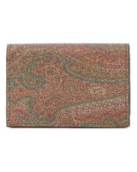 Etro | Brown Abstract Print Cardholder | Lyst
