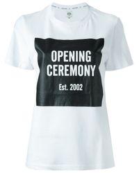 Opening Ceremony | White Logo Print T-shirt for Men | Lyst