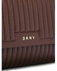 DKNY   Brown Ribbed Crossbody Bag   Lyst