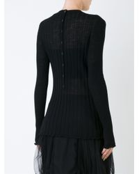 Proenza Schouler - Black Cropped Textured-knit Top - Lyst