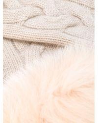 Yves Salomon - Pink Fur-trimmed Fingerless Gloves - Lyst