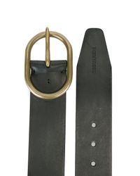 DSquared² - Black Rounded Buckle Belt for Men - Lyst