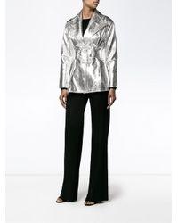 Rejina Pyo - Metallic Josephine Jacket In Beaten Silver Foil - Lyst