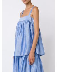 Co. - Blue Draped Flared Blouse - Lyst