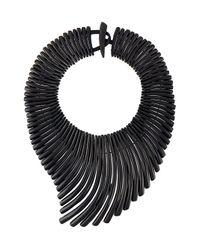 Monies | Black Wave Effect Necklace | Lyst