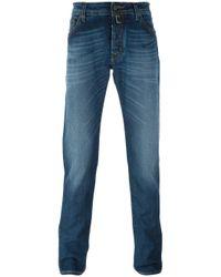 Jacob Cohen | Gray Fold Mark Effect Slim Fit Jeans for Men | Lyst