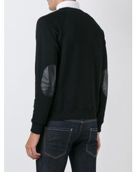 Saint Laurent - Black Elbow Patch Sweatshirt for Men - Lyst