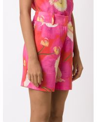 Isolda - Orange - Printed Shorts - Women - Linen/flax - 36 - Lyst