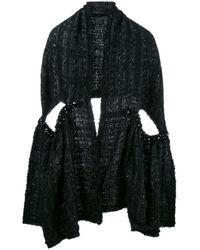 Simone Rocha | Black - Lurex Tweed Scarf - Women - Acrylic/nylon/polyester/wool - S | Lyst