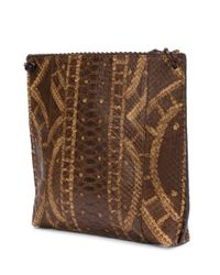 B May - Brown Textured Cross-body Bag - Lyst